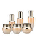 Wholesale round Gradient orange cosmetics electroplating glass bottle/jars with good price